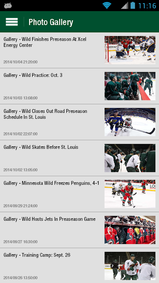 MN Wild Official- screenshot