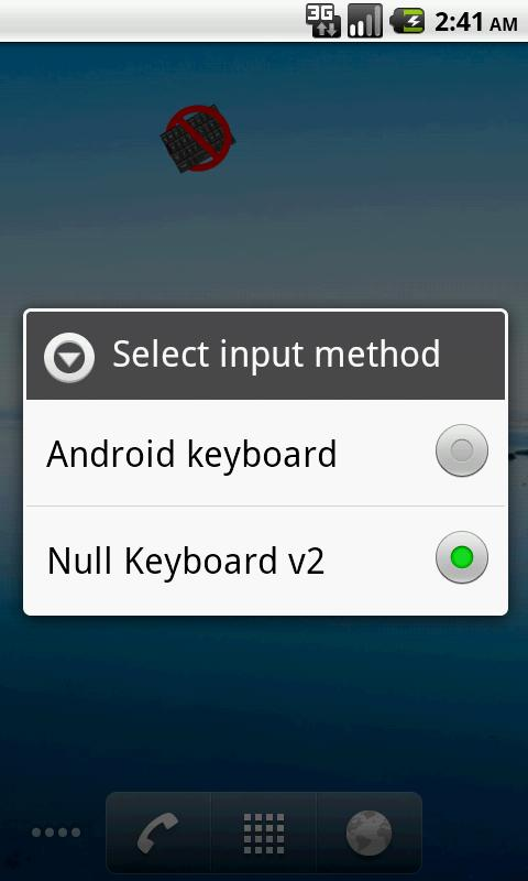 Bluetooth (Null) Keyboard - screenshot