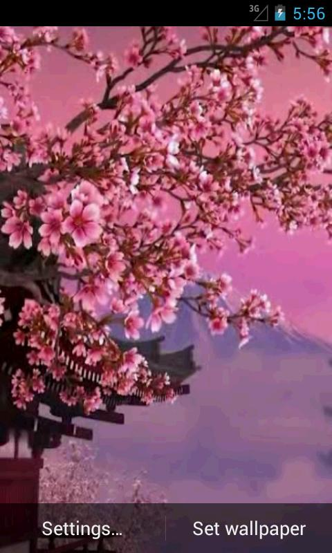 Sakura 3D. Live wallpaper. - screenshot