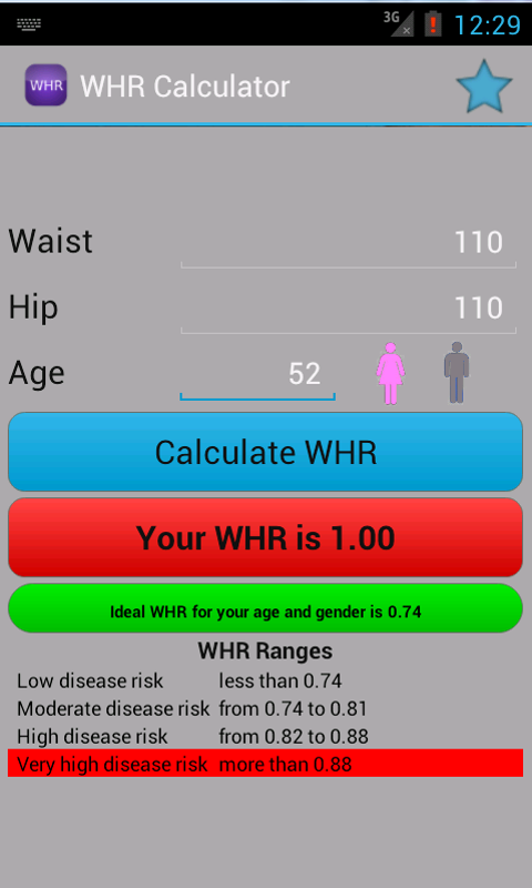 Whr waist to hip ratio android apps on google play