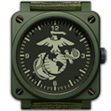 MARINES CLOCK WIDGET-Military logo