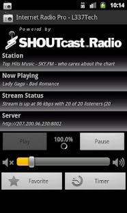 Internet Radio Pro - L337Tech- screenshot thumbnail