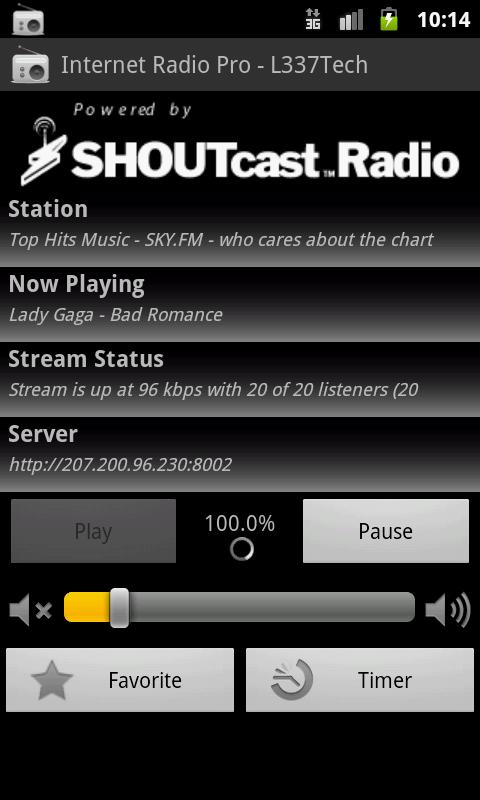 Internet Radio Pro - L337Tech- screenshot