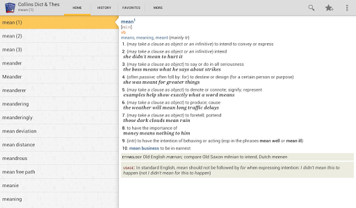 Collins English and Thesaurus v4.3.103