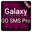 Pink Galaxy GO SMS Theme logo