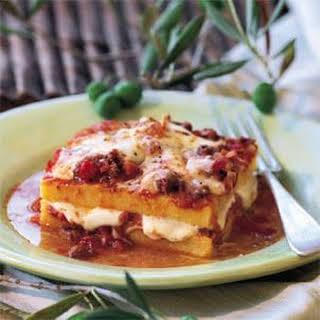 Polenta Casserole with Meat Sauce (Polenta Pasticciata con Ragu di Carne).