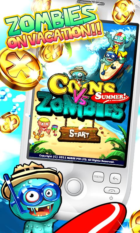 Coins vs Zombies Summer- screenshot