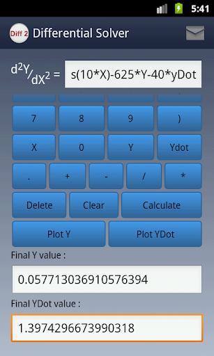 玩教育App|2nd Order Differential Solver免費|APP試玩