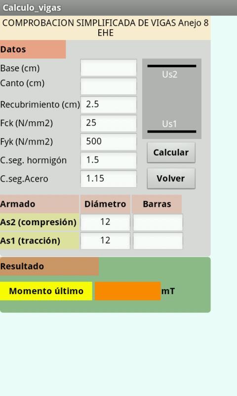 Vigas y pilares de hormigon: captura de pantalla