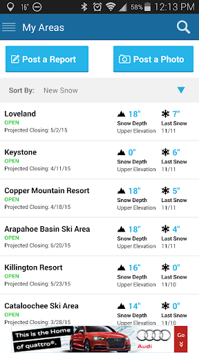 OnTheSnow Ski Snow Report