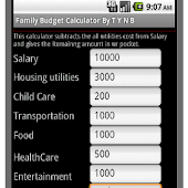 Budget Calculator for family