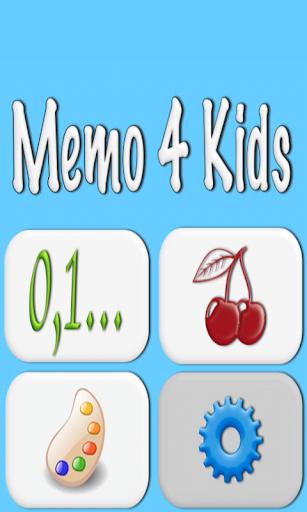 Memo 4 Kids