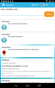 Cloudbanc Customer App - náhled