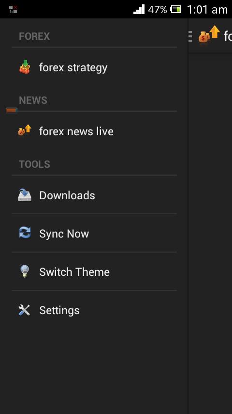Forex signal application