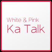 화이트 & 핑크 카카오톡 테마 KaKao Talk
