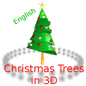 Christmas Trees Rotating in 3D