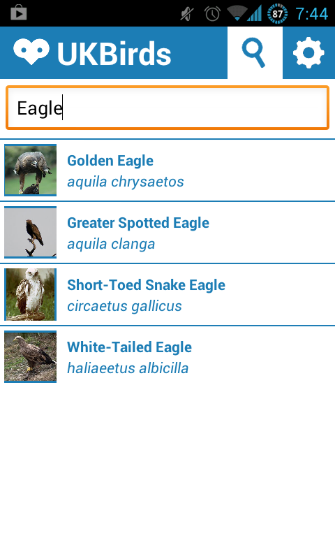 UK Birds - Birdwatching App - screenshot