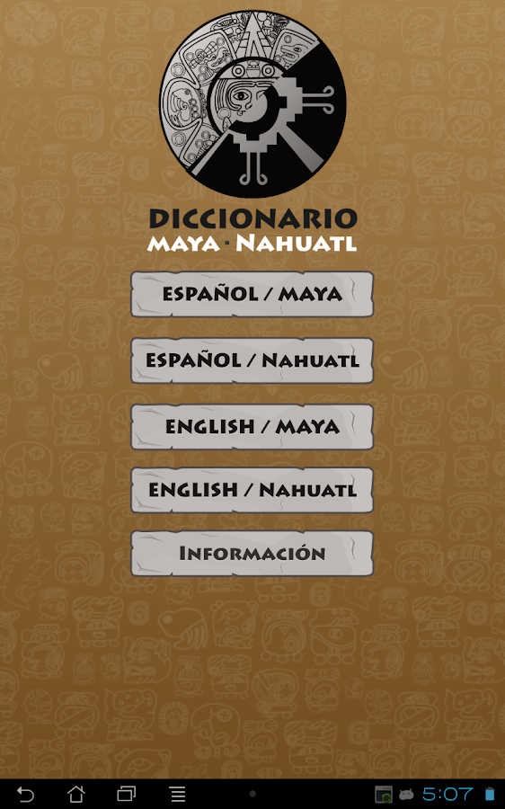 Maya - Nahuatl  Dictionary- screenshot