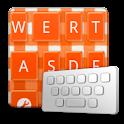 GinghamCheckOrange keyboard sk logo