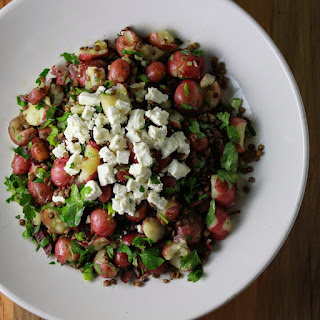 Lentil Potato Salad with Feta