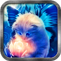 Butterfly Cat Live Wallpaper icon