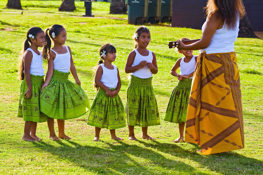 Keiki-dancers-Hawaii - Keiki (children) dancers of Na Hula O Kaohikukapulani.
