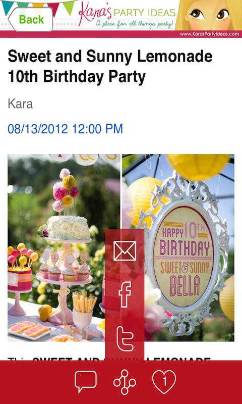 Kara 39 S Party Ideas Android Apps On Google Play