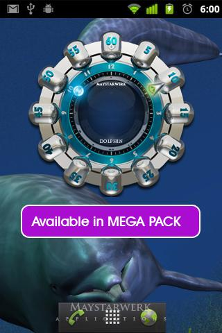 dolphin clock weather widget - screenshot