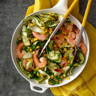 "Zucchini ""Pasta"" with Shrimp."