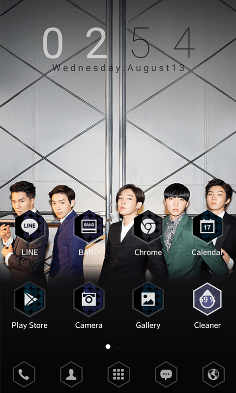 WINNER S/S LINE Launcher theme- screenshot