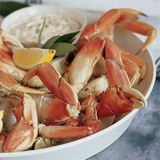 Cracked Crab with Horseradish Mayonnaise.
