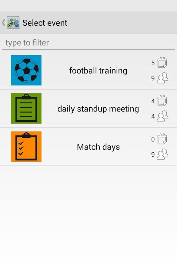 Attendance Tracker - screenshot
