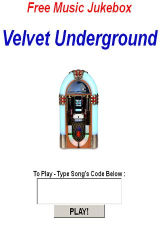 Velvet Underground JukeBox - screenshot