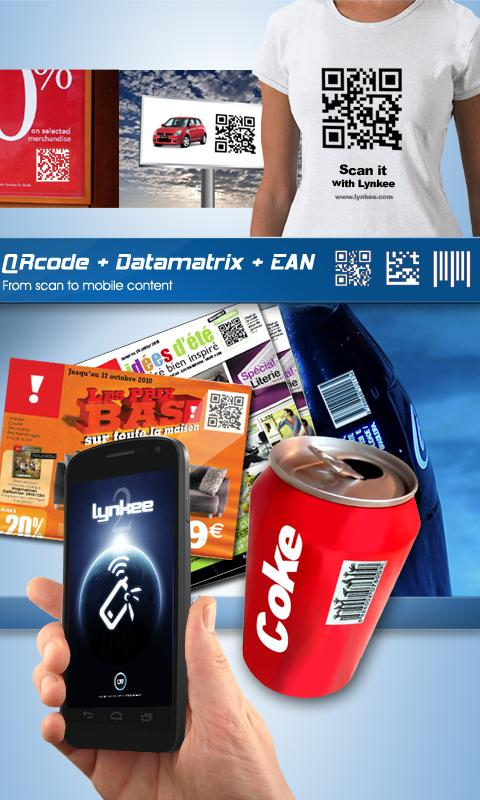 LYNKEE QR code barcode scanner- screenshot