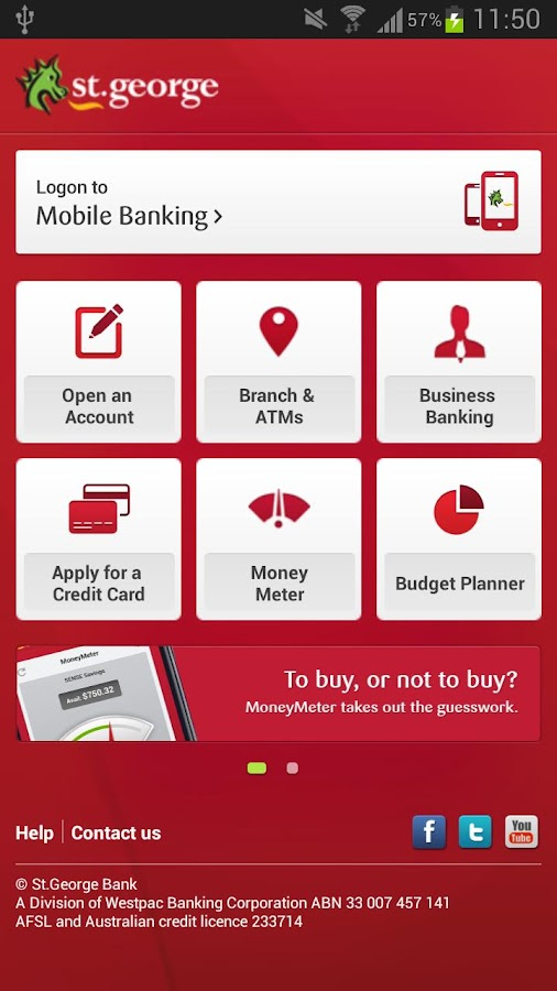 St.George Banking App - screenshot