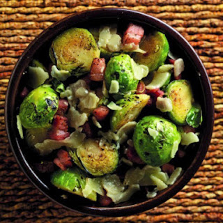 Stone Pale Ale and Garlic Stir-Fried Brussels Sprouts.