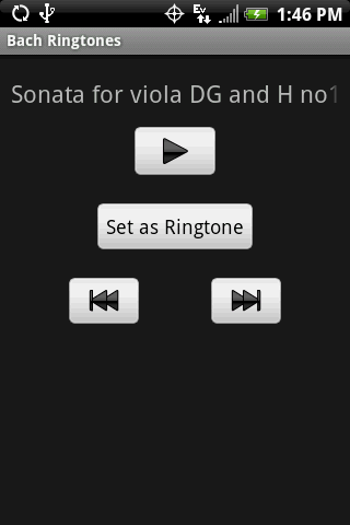 BACH Classical Ringtones - screenshot