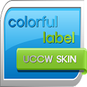 colorful label uccw skin icon