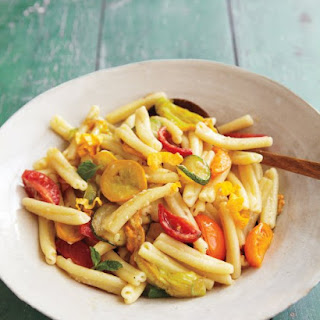 Pasta with Tomatoes, Squashes, and Blossoms