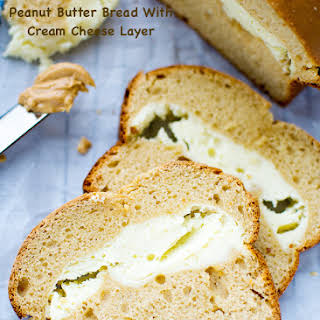 Peanut Butter Bread With Cream Cheese Layer.