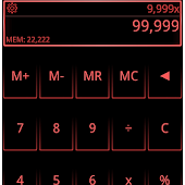 SCalc Neon Red theme