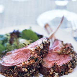 Roast Lamb with Marionberry-Pecan Crust
