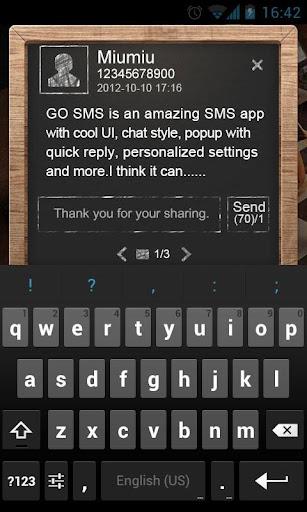 【免費通訊App】GO短信黑板即显主题-APP點子