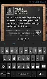 GO SMS Pro BlackBoard PopupThe- screenshot thumbnail