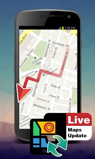 Live maps update
