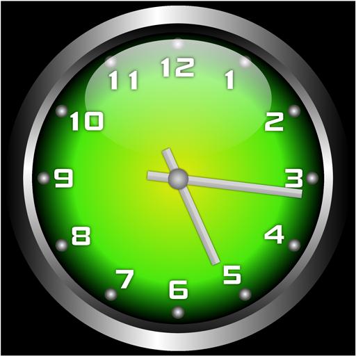 個人化必備App|3D Glow 2 Analog Clock Widget LOGO-綠色工廠好玩App