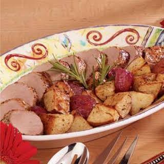Pork Tenderloins with Roasted Potatoes.
