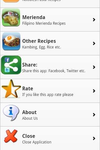 Pinoy Food Recipes- screenshot