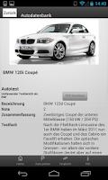 Screenshot of ADAC Autodatenbank