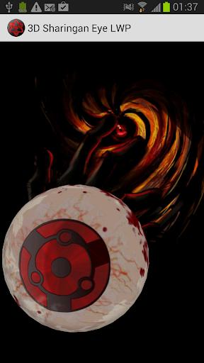 3D Sharingan eye LWP